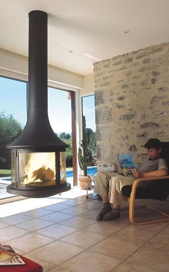 "Hi-tech fireplace ""LEA 995 CENTRAL"""