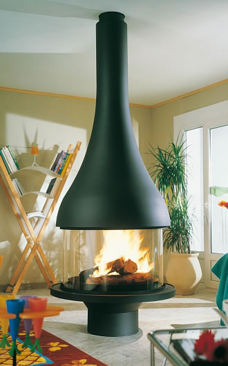 "Hi-tech fireplace ""ALEXIA 995 CENTRAL"""
