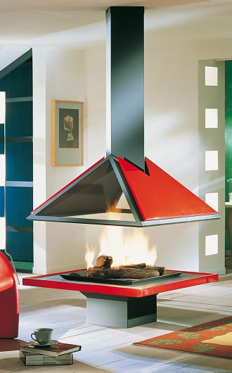 "Hi-tech fireplace ""AMILIA 996 CENTRALE"""