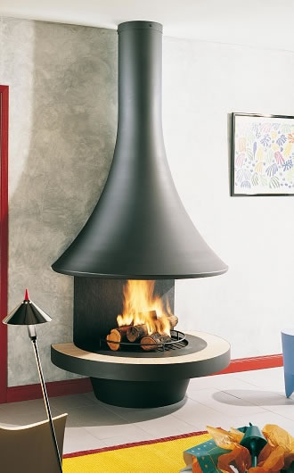 "Hi-tech fireplace ""EVA 992 MURALE"""