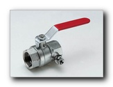 Straight full bore ball valve F/F with drain