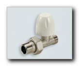 Straight radiator valve for plastic and copper pipes