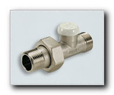 Lockshield straifht radiator valve for plastic and copper pipes