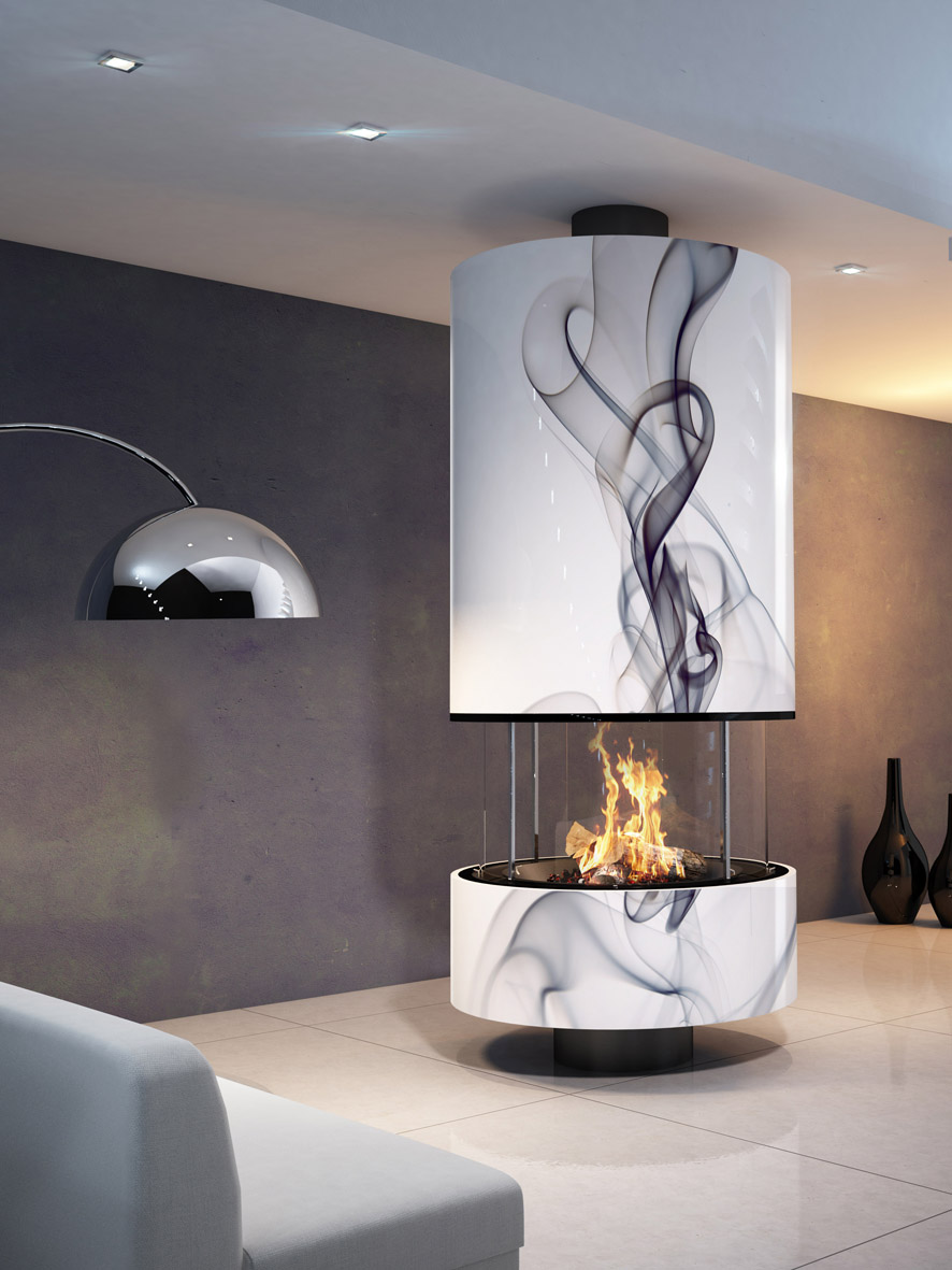 "Hi-tech fireplace ""IRENA VOLUTES"""