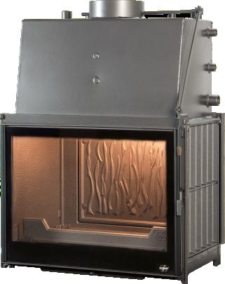 Cast iron water boiler built-in foyer