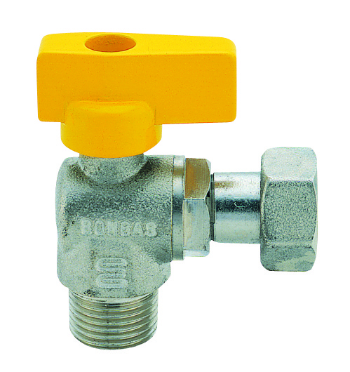 Gas ball valve with union