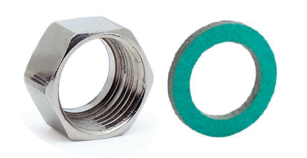 Nickel plated brass nuts with gaskets for CSST tubes