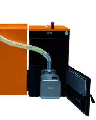 """Pellet cast iron boiler """"FERROLI""""SFL, arranged with burner SUN P7 or SUN P12"""