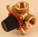 Brass 3(4)-way regulation mixing valve