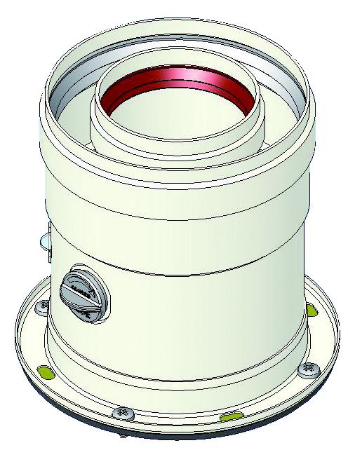"""Коаксиален начален елемент 100/60 с пробка за димни газове за кондензен газов котел """"FERROLI"""""""