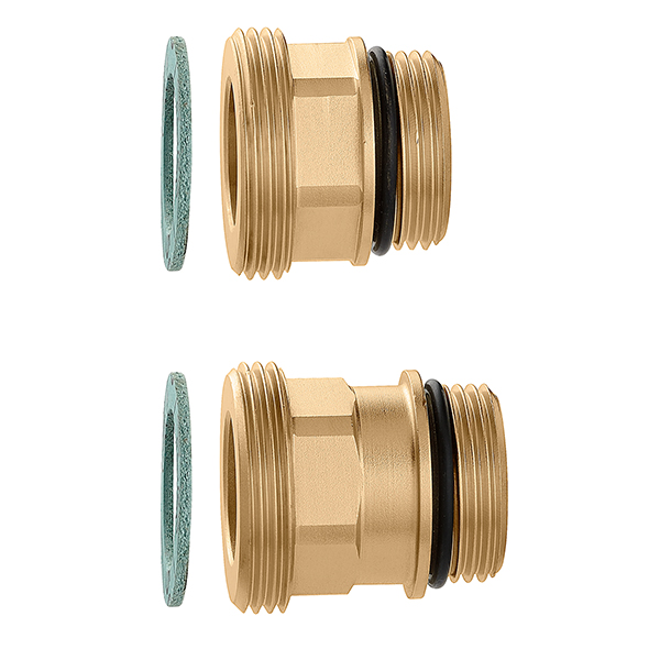 "Pair of fittings ""CALEFFI"" for connecting the set point regulating unit"