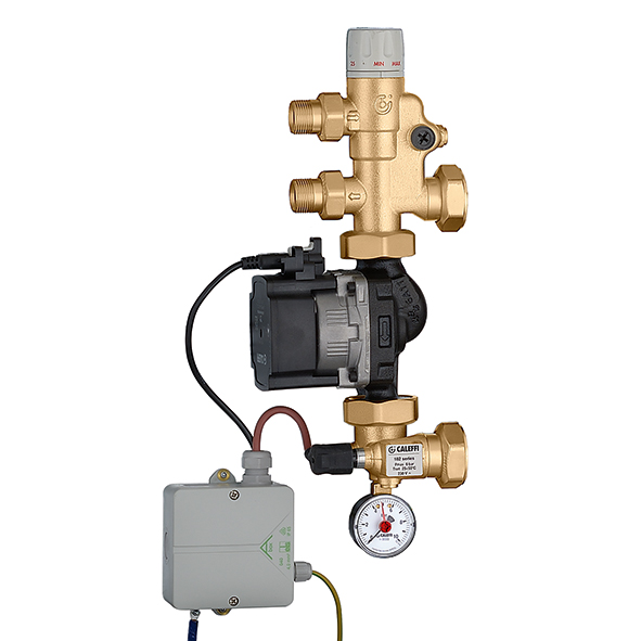 "Pre-assembled set point regulating unit ""CALEFFI"""
